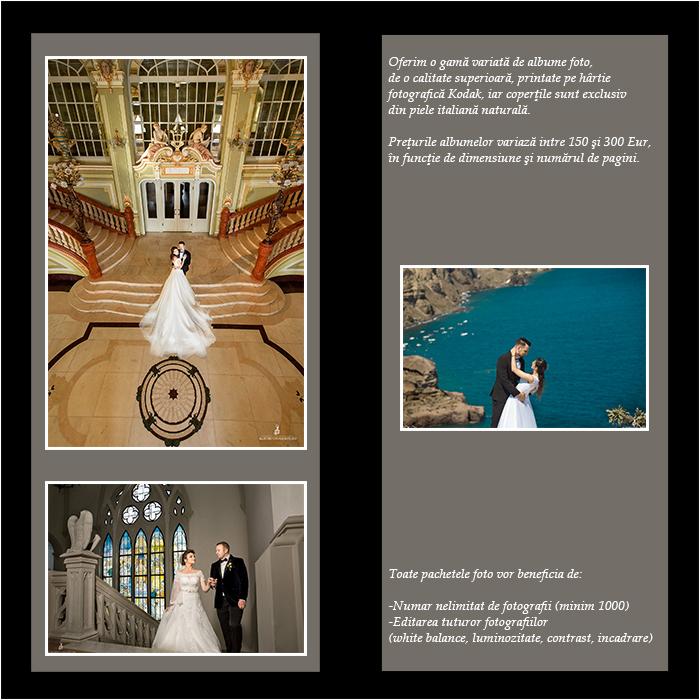 Pachet fotograf nunta album fotografii